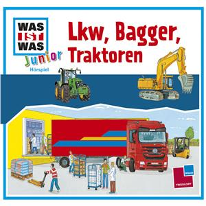 Hörbuch Cover: WAS IST WAS Junior Hörspiel: Lkw, Bagger, Traktoren (Download)