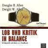 Hörbuch Cover: Lob und Kritik in Balance (Download)